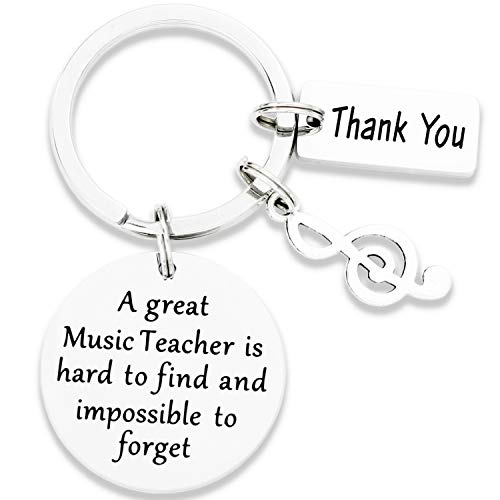 Kivosliviz Music Teacher Keychain A Great Music Teacher is...