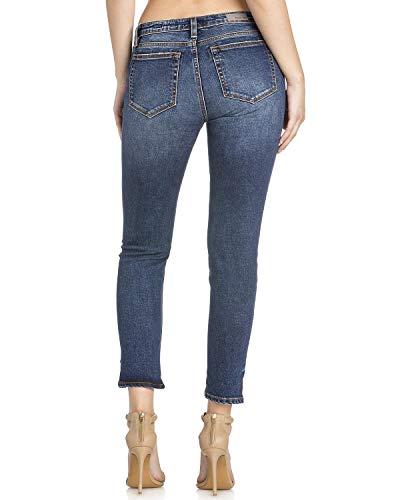 Miss Me - Damen M1001AK139 5Pkt Mid-Rise Ankle Skinny Jeans, 25, Denim