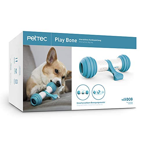 PetTec Hueso de Juguete Interactivo Juguete para Perros | A batería...