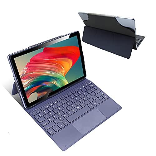 Gaming Tablette Tactile 10 Pouces, 8 Cœurs 2.0GHz Tablette PC avec Clavier, Tablette 4G LTE Dual SIM + 5G WiFi Tablette Android 10, 64Go ROM 4Go RAM, IPS 1920 * 1200 Full HD, GPS, OTG,Type-C (Gris)