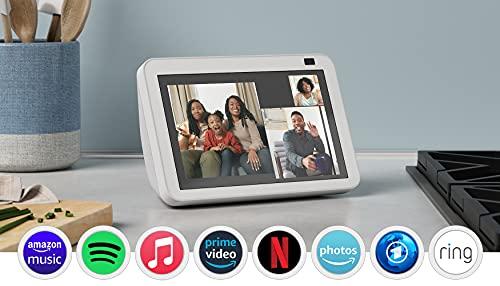 Der neue Echo Show 8 (2. Generation, 2021)   HD-Smart Display mit Alexa und 13-MP-Kamera   Weiß