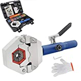 Hydraulic AC Crimping Tool Hydraulic AC Hose Crimper Univeral Hydra-Krimp 71500 Manual A/C Hose Crimper Kit Air Conditioning for Barbed and Beaded Hose Fittings Auto Reparing Tool (71500 Interal)