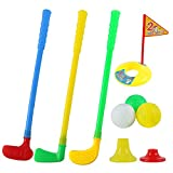 willway Plastic Golf Clubs Golf Sets for Toddlers Kids Child, Multi-Colored