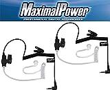 MaximalPower RHF 617-1N X2 3.5mm Receiver/Listen Only Surveillance Headset Earpiece, 2 Pack