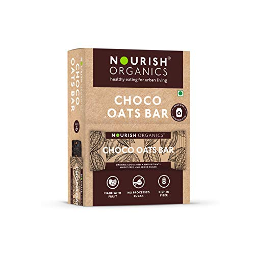 Nourish Organics Choco Oats Bar, 30g (Pack of 6)