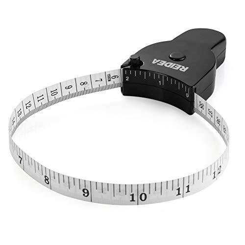 Body Measure Tape 60inch (150cm), Lock Pin and Push-Button Retract, Ergnomic and Portable Design, Black