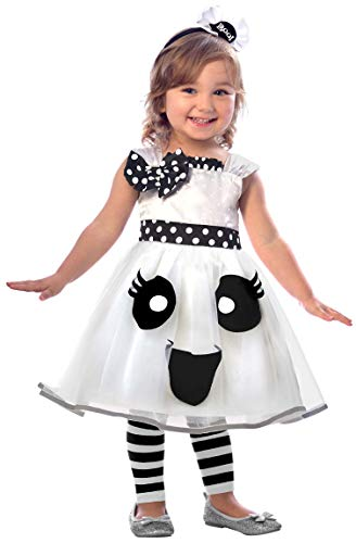amscan 9903388 Girls Cute Happy Ghost Halloween Fancy Dress Costume Age 2-3 Years