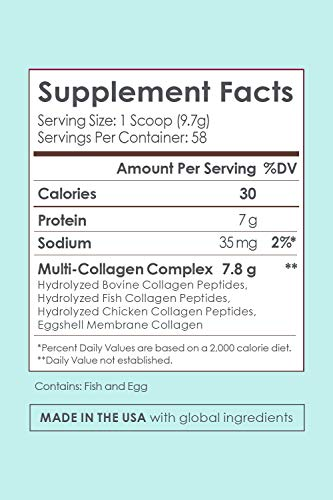 SkinnyFit Super Youth Multi-Collagen Peptide Powder Chocolate Cake Flavor, Hair, Skin, Nail, & Joint Support, 58 Servings 5