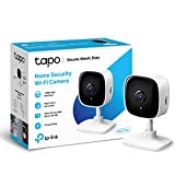 TP-LINK Tapo Mini Smart Security Camera, Indoor CCTV, Works with Alexa & Google Home, No Hub Required, 1080p, 2-Way Audio, Night Vision, SD Storage, Device Sharing (Tapo C100)