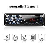 Aigoss Autoradio Bluetooth, 4 x 60W Voiture Stéréo FM Radio, Lecteur MP3...