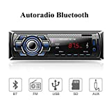 Aigoss Autoradio Bluetooth, 4 x 60W Voiture Stéréo FM Radio, Lecteur MP3 Poste...