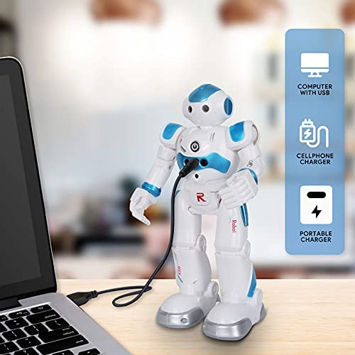 BBdis RC Robot Toy, Gesture Sensing Remote Control Robot for Kids Intelligent Programmable Robot with Infrared Controller Singing Dancing & Walking Robot for Girl Boy 3-12 Year Birthday Gift Present 14