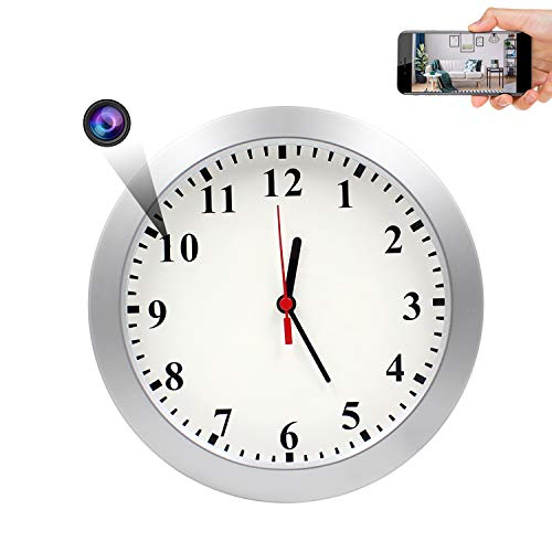 Spy Hidden Wall Clock Camera, AMCSXH HD 1080P WiFi Camera Wall Clock, Security for Home and Office, Nanny Cam/Pet Cam/Wall Clock Cam, Remote-Real Time Video, Support iOS/Android, Video only