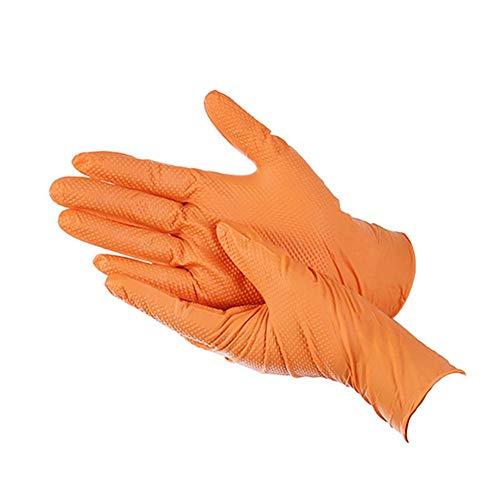 100 guanti usa e getta in gomma arancione guanti multiuso resistenti adatti per l'uso in cucina,...