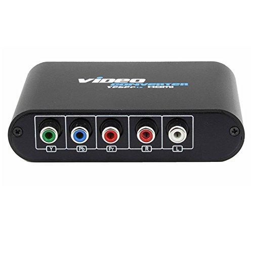 5 Convertitore RCA Ypbpr a HDMI For PS2 XBOX WII Ad HDMI Adattatore connettore audio video HDTV con cavo di alimentazione USB