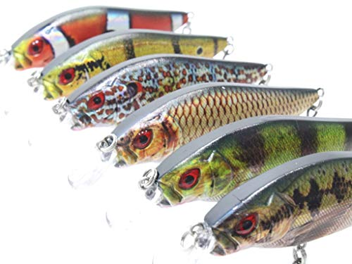 wLure 3 1/2 inch 3/8 oz Lifelike Tight Wobble Crankbait for Bass Fishing Bass Lure Fishing Lure with...