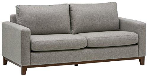 Marchio Amazon -Rivet, divano con base esposta in legno, modello North End, larghezza 198 cm,...