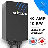 Grizzl-E Level 2 EV Charger, 16/24/32/40 Amp, NEMA 6-50/14-50 Plug, 18 feet/24 feet Premium/Regular Cable, Indoor/Outdoor Car Charging Station (06-50 Plug, 24 Feet Premium Cable)