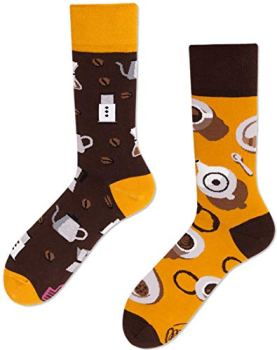 Many Mornings Coffee Lover Chaussettes multicolores avec café, coton, moulin, tasse, haricots (39-42)