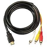 Trifycore Câble HDMI vers HDMI 3 RCA à RCA Convertisseur Adaptateur Câble...