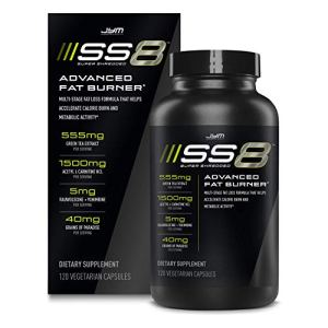 Jym SS8 Super Shredded 8 | Advanced Fat Burner, Acetyl-L Carnitine, Tyrosine, Green Tea Extract, Caffeine, Capsimax, Grains of Paradise, Yohimbe, Rauwolscine | Jym Supplement Science | 120 Capsules 3 - My Weight Loss Today