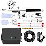 Gocheer Upgraded 30PSI Airbrush Kit, Multi-Function Dual-Action Airbrush Set with Compressor for...
