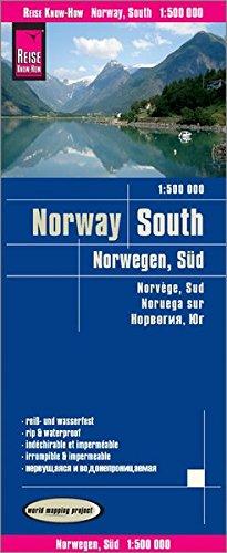 Noruega sur, mapa impermeable de carreteras. Escala 1:500.000 impermeable. Reise Know-How.: world ma