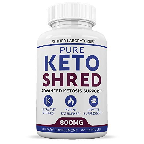 Pure Keto Shred Advanced BHB Ketogenic Supplement Exogenous Ketones Ketosis for Men Women 60 Capsules 1