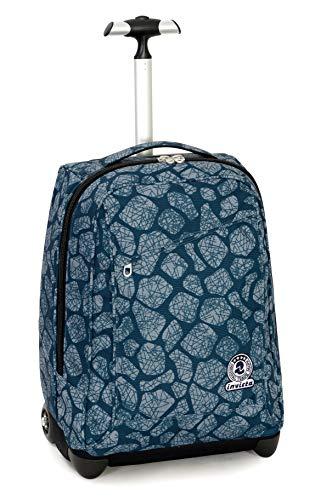 Trolley Invicta Stone, Blu, 35 Lt, 2in1 Zaino con Sollevamento Spallacci per uso Trolley, Scuola & Viaggio