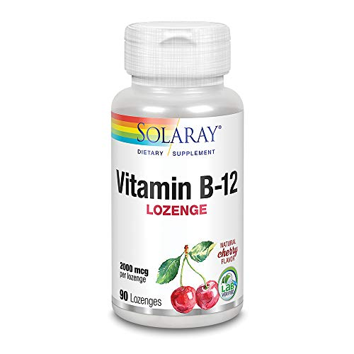 SOLARAY Vitamina B-12 2000mcg | Sabor a cereza natural sin azúcar |...