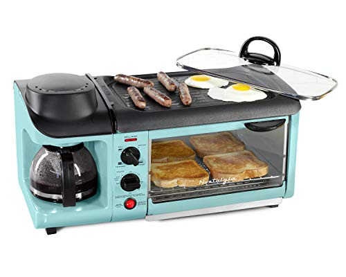 Nostalgia Retro 3-in-1 Family Size Electric Breakfast Station,...