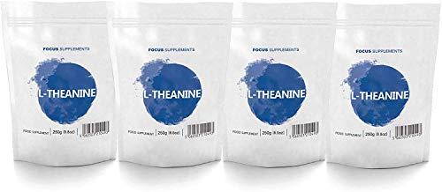 FS Simply L-Teanina en polvo puro [250 g], Calmante Natural, Sin Aditivos, Vegano | Suplemento Nootrópico para Promover la Concentración | Mejora el Estado de Ánimo y la Circulación - Sin OGM o gluten