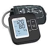 Tensiómetro de Brazo, Monitor de la presión Arterial, Tensiómetro de Brazo Digital LCD, Brazalete grande de 22-42 cm,Detección de Frecuencia Cardíaca Irregular 2 memorias de usuario (2 * 120)
