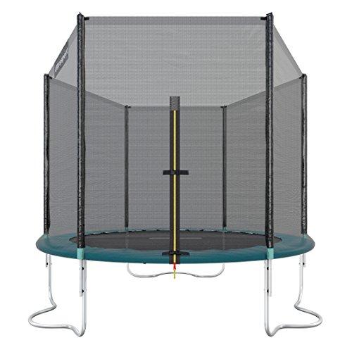 Ultrasport Outdoor Gartentrampolin Jumper, Trampolin Komplettset inklusive Sprungmatte, Sicherheitsnetz, gepolsterten Netzpfosten und Randabdeckung, bis zu 120kg, Grün, Ø 180 cm