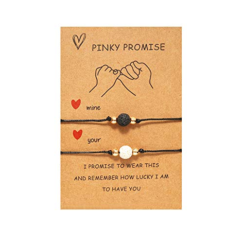 Pinky Promise Bracelets Long Distance Relationships Gifts...