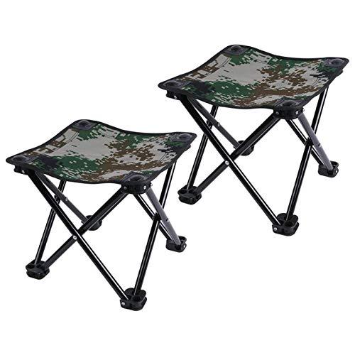 HLONGG Camping Fischen-Faltender Campinghocker Kleine Klapp Campinghocker Gärten Reisen Im Freien Reisetasche Mit 2 Tarnung Mosaik,Grün
