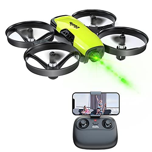 Loolinn | Drone con Telecamera per Bambini Regalo - Mini Drone FPV, Droni Telecomandati Quadricotteri con Telecamera Orientabile / Funzione di Trasmissione in Tempo Reale FPV / Tre Batterie Incluse