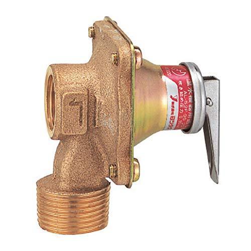 ヨシタケ 温水機器逃し弁 密閉構造・鉛レス処理 吹き始め圧力95KPa ねじ込み接続 接続口径20A 本体CAC 最高温度100℃ 型式AL-52F-95 20A