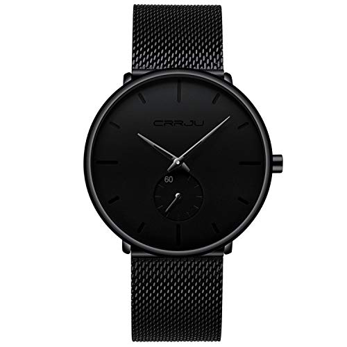 Mens Watches Ultra-Thin Minimalist Waterproof-Fashion Wrist Watch...
