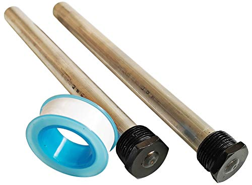 Ozek RV Water Heater Magnesium Anode Rod with PTFE Tape - Compatible with Suburban and Mor-Flo Water Heater Tanks - 9.25' Length ¾' NPT Threads (2 Pack)