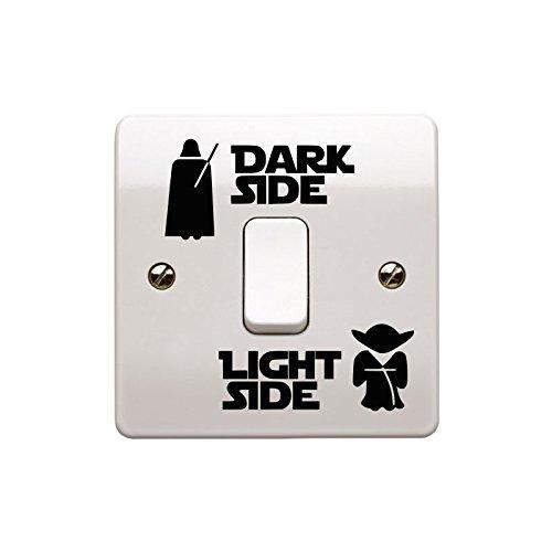 Light Side Dark Side Light Switch Vinyl Decal Sticker Child Room Lightswitch Wall Art Vader Yoda - EPIC MODZ