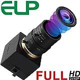 ELP 8MP Webcam Grand Angle Réglable Manuel Zoom Variable 2.8-12mm...