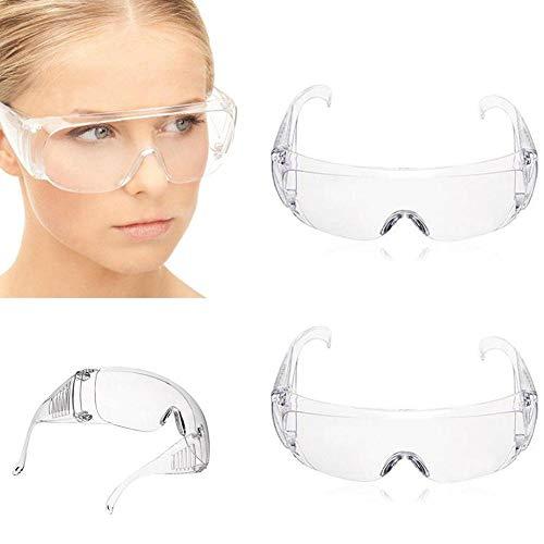 Staubdichte, transparente Augenmaske, für Labor, Medizin, Studenten, Schutzbrille, Antibeschlag-Brille, 5 Stück