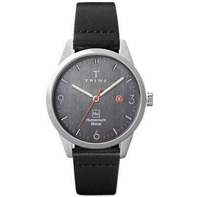 TRIWA HU34 Minimalist Watch for Women – Ladies Casual Leather Wrist Watches 34mm