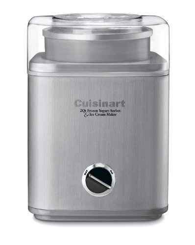 Cuisinart ICE-30BC Pure Indulgence 2-Quart Automatic Frozen Yogurt, Sorbet, and Ice Cream Maker - Silver