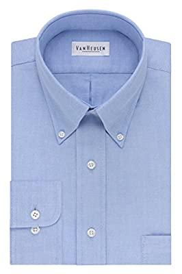 EASY CARE: Machine washable; no dry cleaning required REGULAR FIT: A generous cut through the shoulders, chest and waist for total comfort and a classic fit BUTTON-DOWN COLLAR: More relaxed & casual collar; appears neat with or without neckwear so yo...