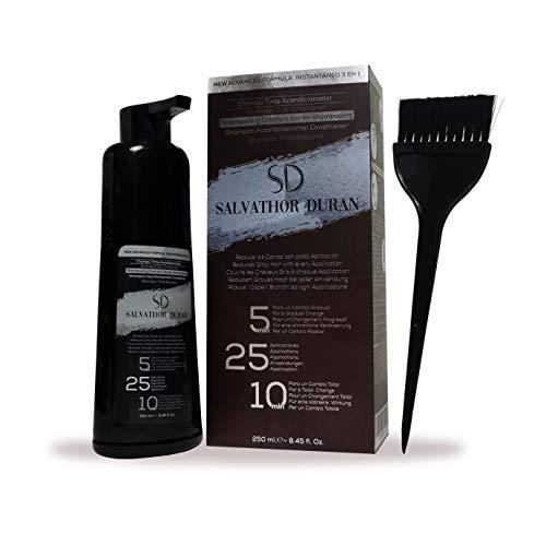 Salvathor Duran – Tinta Uomo per Capelli Grigi e Barba - 25 Applicazioni – Risultato Graduale e Naturale - 250 ml.