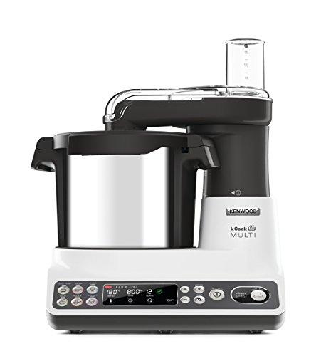 Kenwood CCL401WH kCook Multi Robot da Cucina con Funzione Cottura, Acciaio inossidabile/Plastica, Bianco