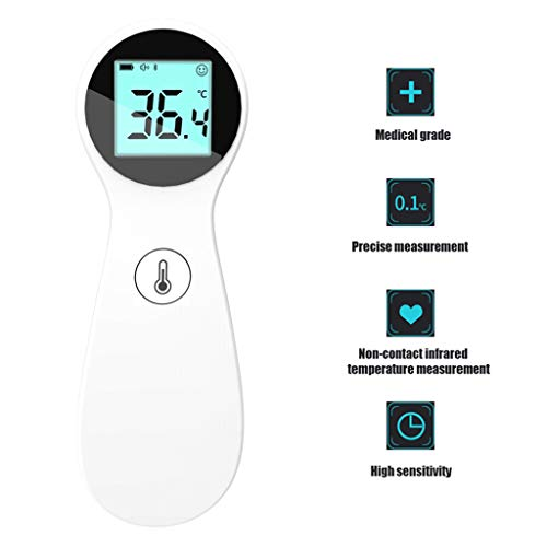 ZQQ Forehead Thermometer, Medical Grade Contactless Electronic Digital Thermometer Quick 1 Second Reading for Baby Kids and Adults
