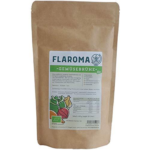 BIO Gemüsebrühe 600g - 30L, ohne Geschmacksverstärker, kein Glutamat, Hefeextrakt, glutenfrei, laktosefrei, vegan, als Brühe und Gewürz - Flaroma Suppenhandel
